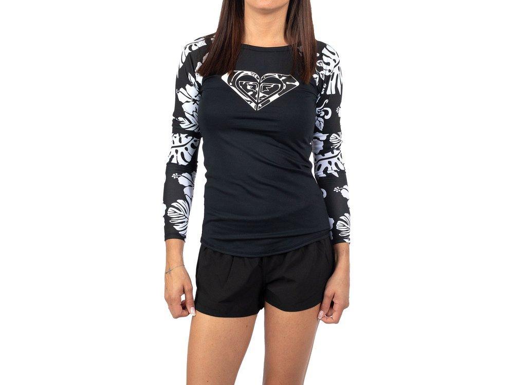 Czarna Koszulka Damska z długim rękawem ROXY S