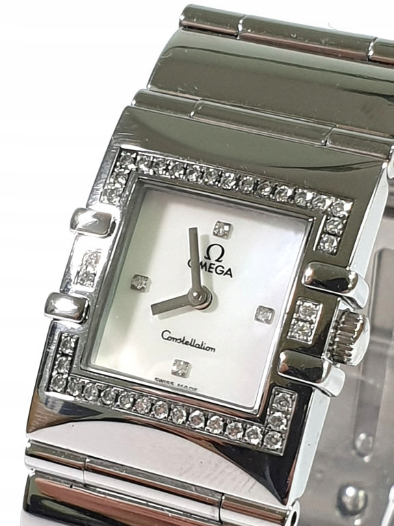 ZEGAREK OMEGA CONSTELLATION QUADRA DIAMENTY
