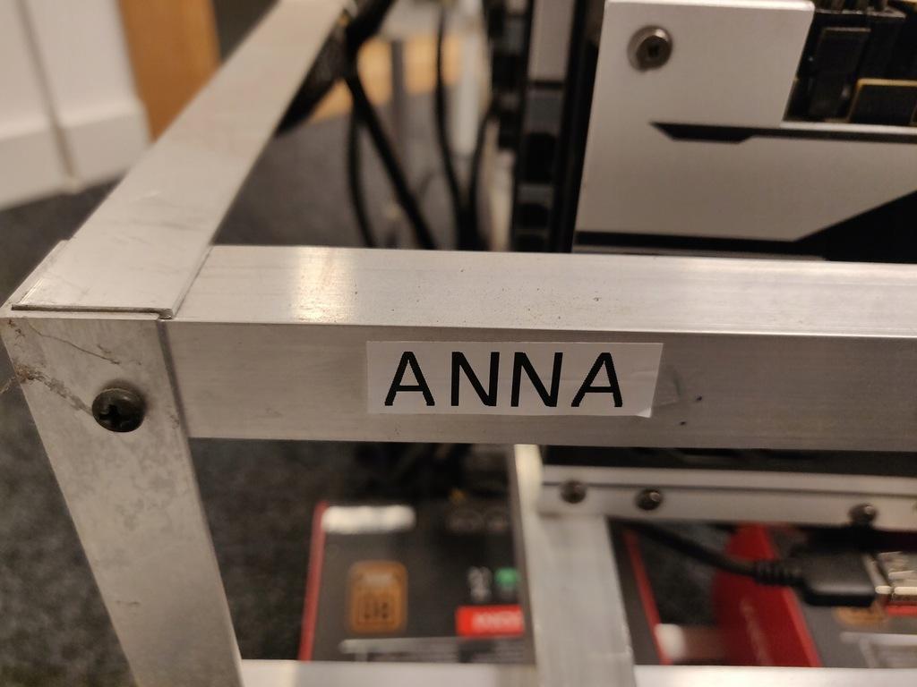 "Koparka kryptowalut 6x RX480 8GB, 181 MH/s ""Anna"""