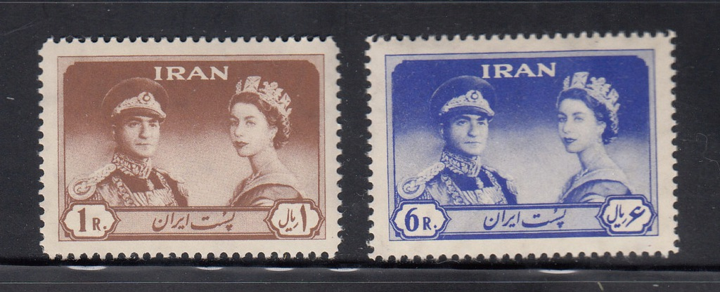IRAN MI 1088-1089 ELŻBIETA II + SZACH seria czyste