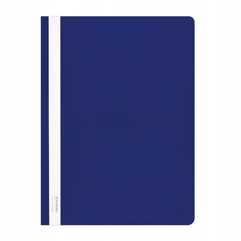 Skoroszyt niewpinany plastikowy twardy niebieski