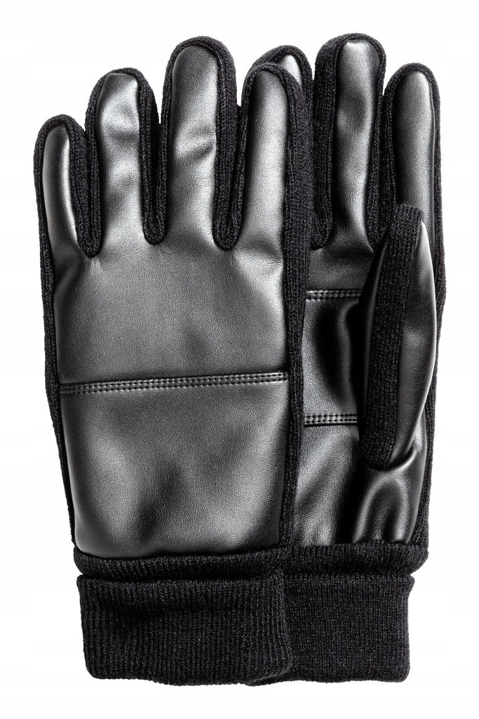H&M Rękawiczki z imitacji skóry L/XL