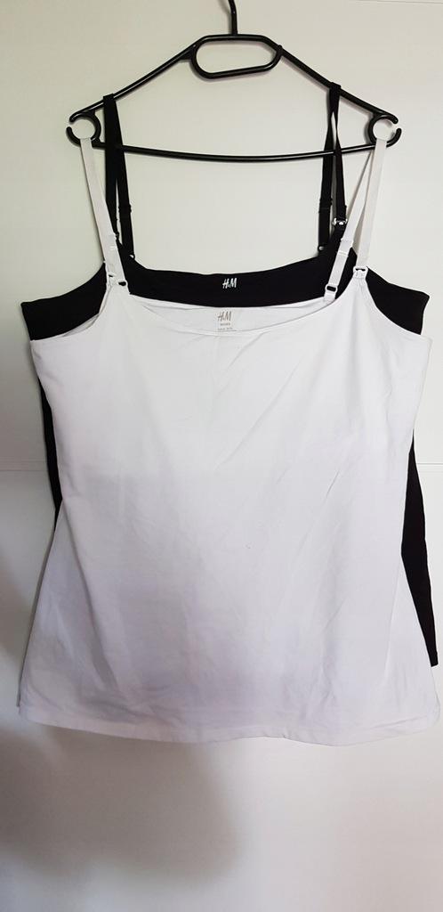 H&M Mama 2 topy na ramiączkach XL