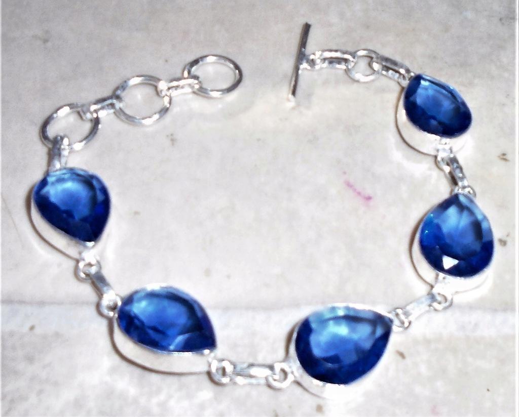 bransoletka z london blue topazami laboratoryjnymi