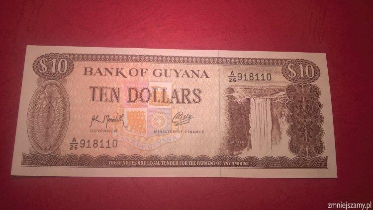 Guyana - 10 dolarów stan UNC dla WOŚP