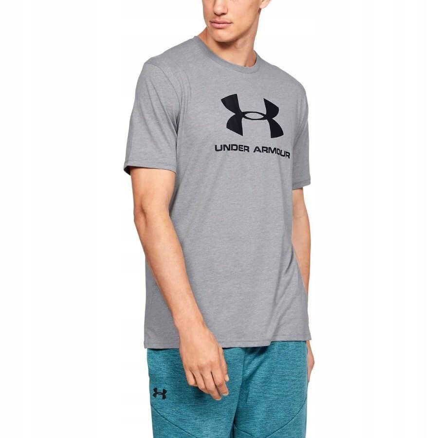Koszulka UA Sportstyle Logo SS 1329590 szary M!