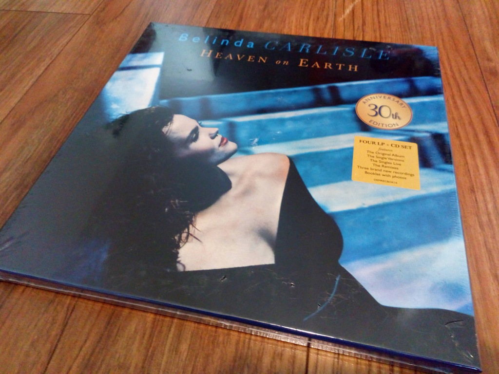 BELINDA CARLISLE HEAVEN ON EARTH 4 x VINYL BOX +CD