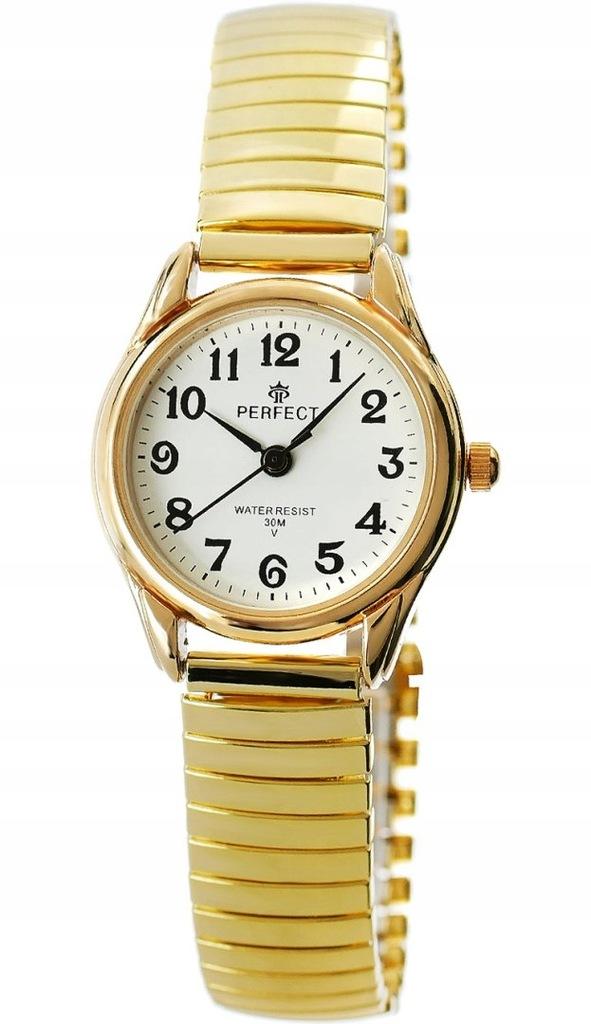 Zegarek Damski Perfect X075G-1 Stretch Złoty