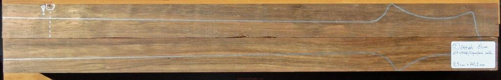Drewno na gryf 2-częściowy ETIMOE woodforguitar