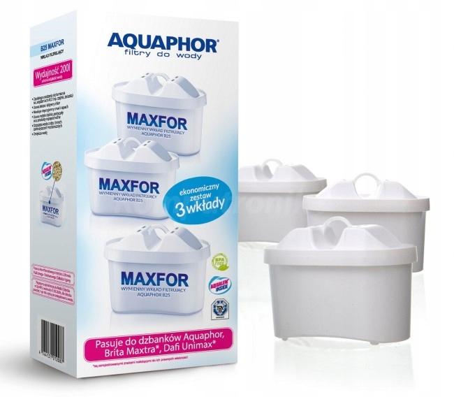 Filtr AQUAPHOR MAXFOR B25 BRITA MAXTRA DAFI 3szt