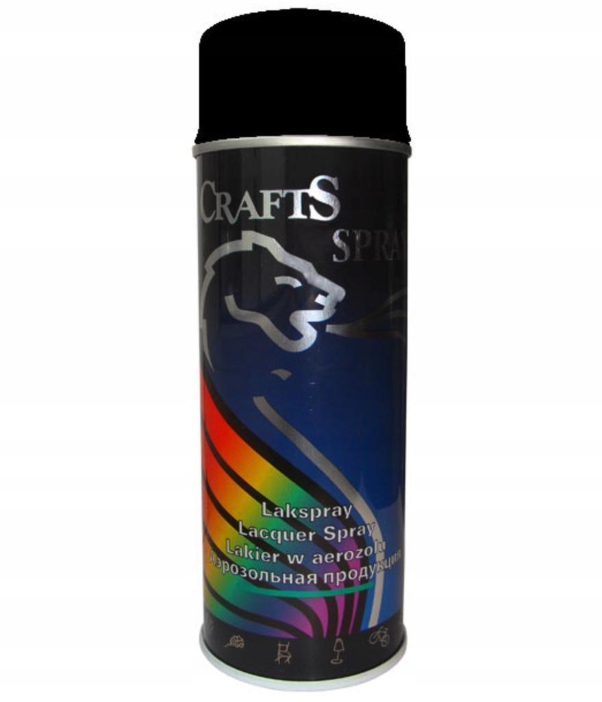 Lakier akrylowy Crafts 400ml, RAL 9005 czarny mat