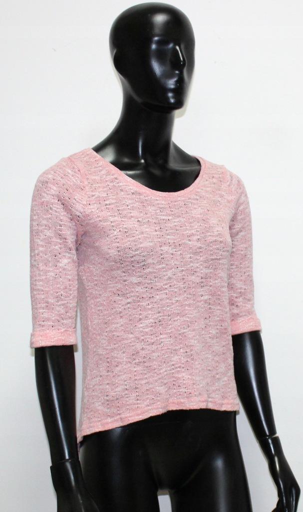 New Look różowy cienki sweterek wiosna L 40