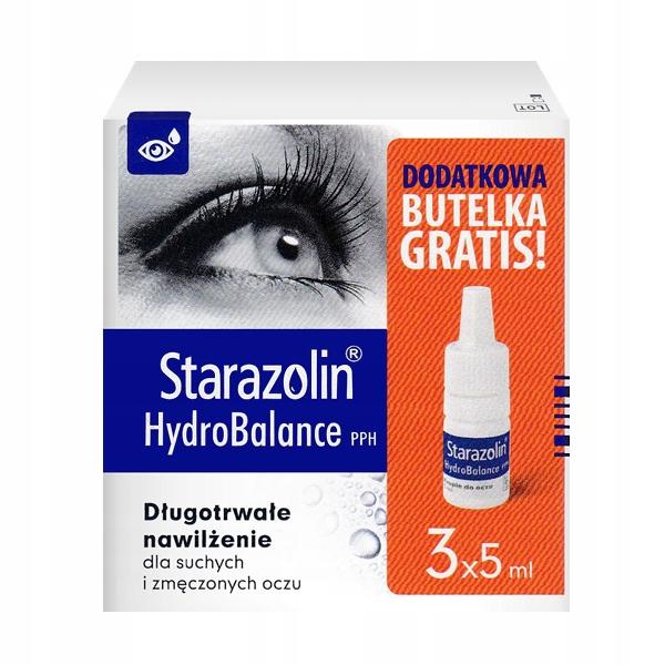 Starazolin Hydrobalance 3*5 ml krople nawilżające