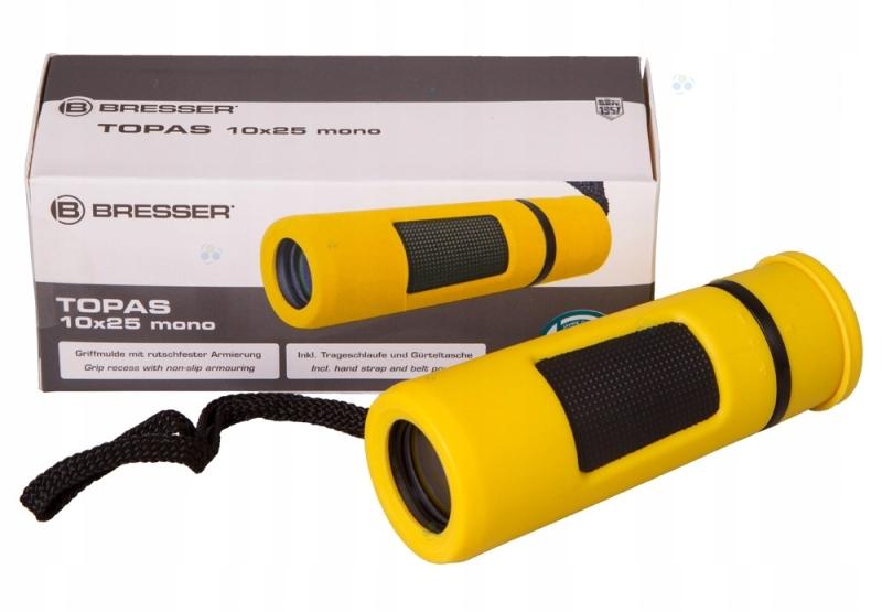 Monokular Bresser Topas 10x25 żółty