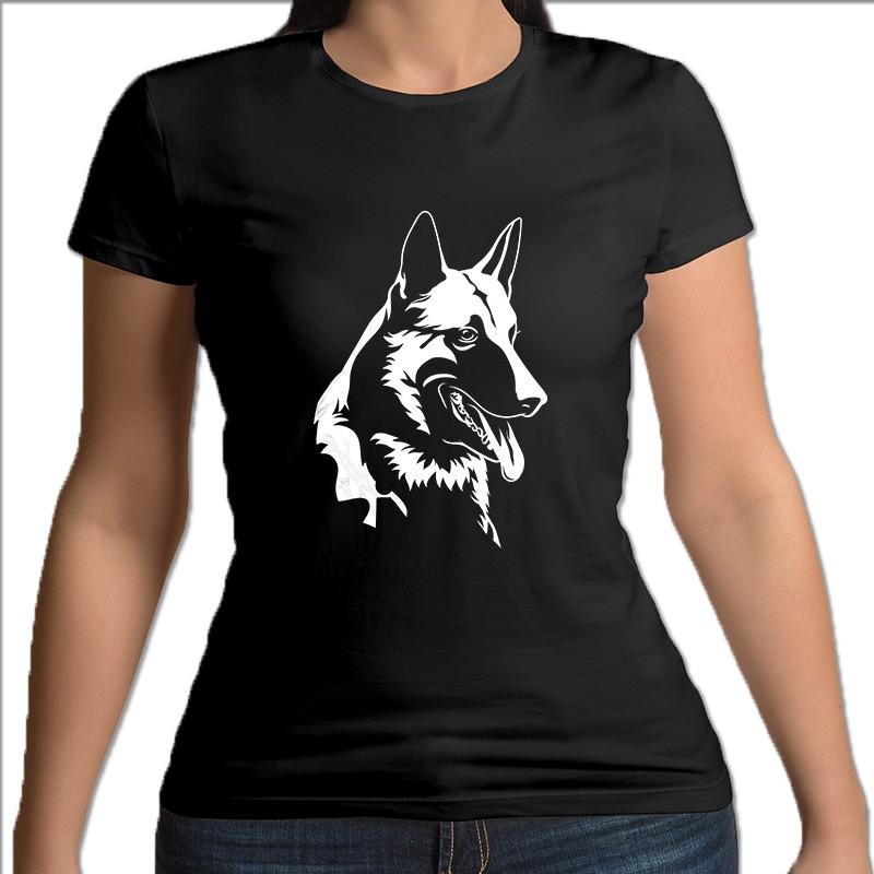 koszulka czarna damska wilczur