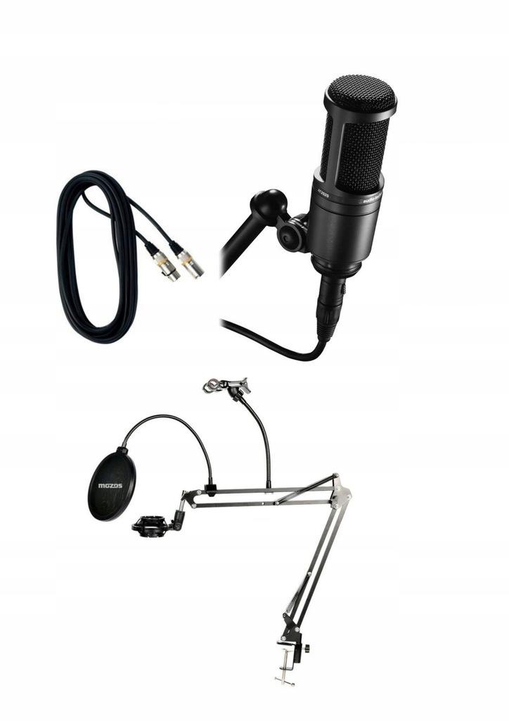 Audio-Technica AT2020 mikrofon pojemnościo. set1-6