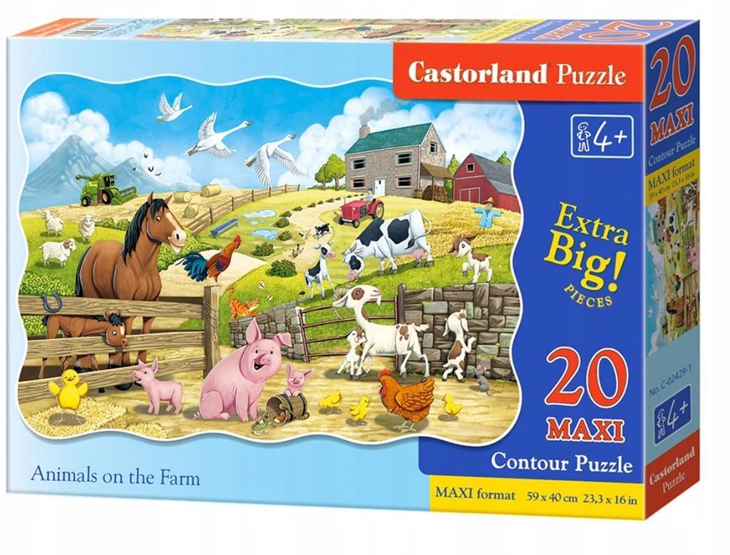 Puzzle 20 maxi - Animals on the Farm CASTOR