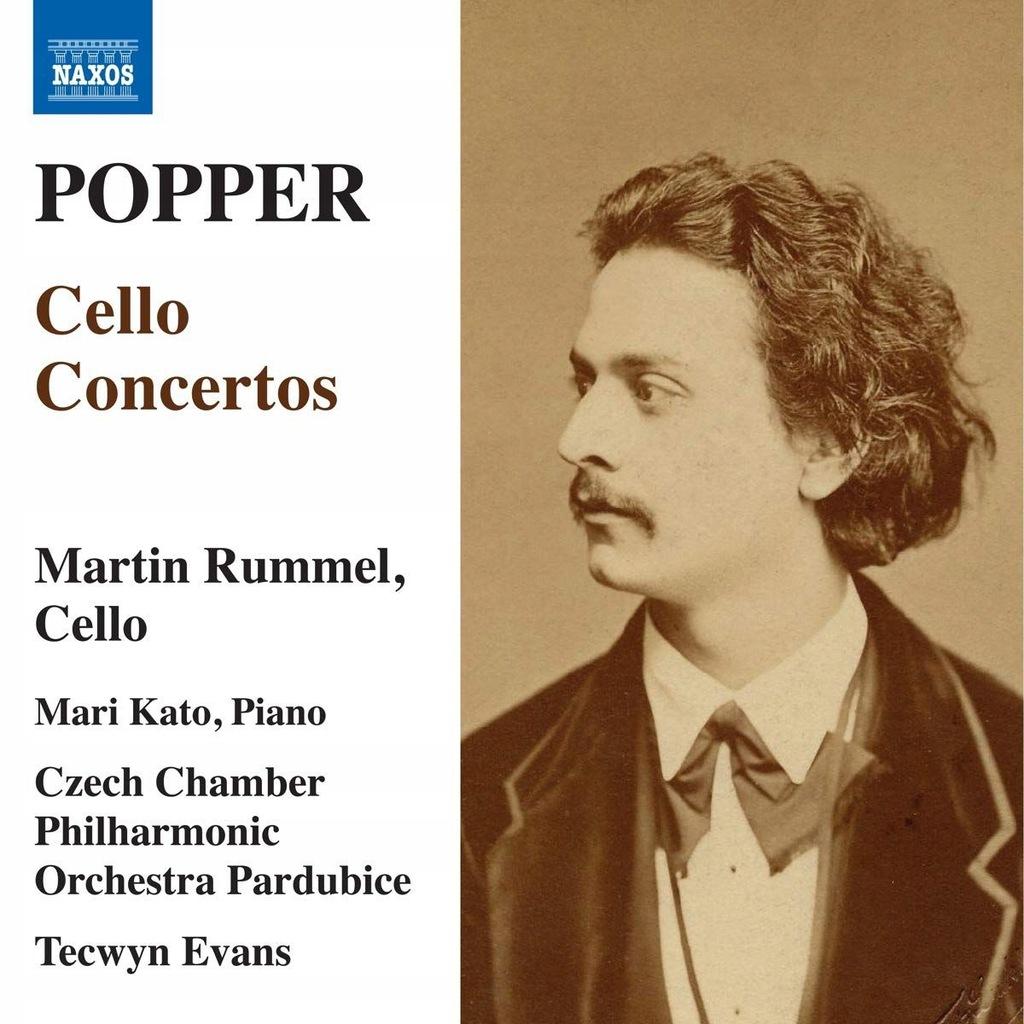 RUMMEL+CZECH CO+EVANS: POPPER: CELLO CONCERTOS (CD
