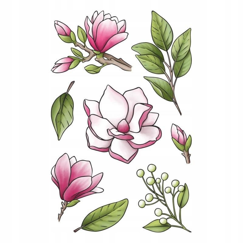 Happy scrap - stemple - FLOWER GARDEN - MAGNOLIA