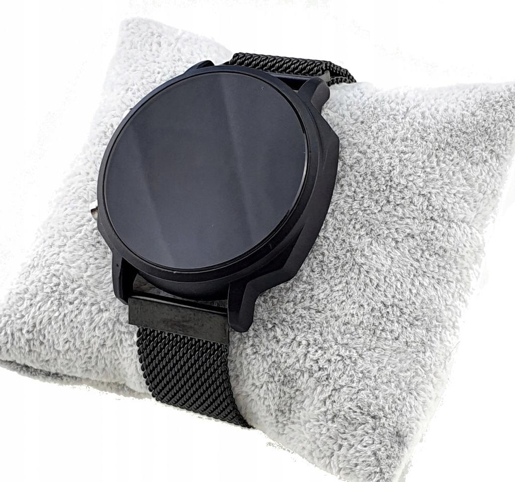 2836 Zegarek magnetyczny elektroniczny czarny Kurr