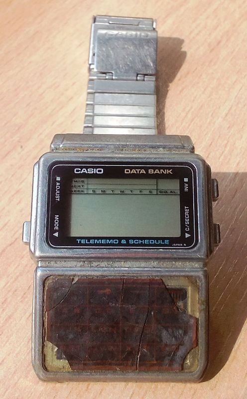 Vintage Retro Casio Telememo Databank Kalkulator zegarek