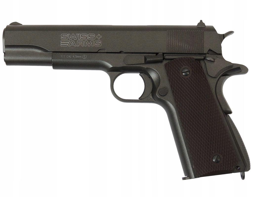 Wiatrówka pistolet Swiss Arms P1911 4,46