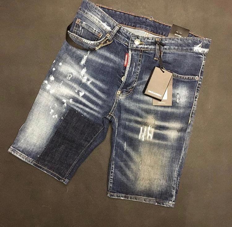 DSQUARED 2 / DSQ - Spodenki Męskie Jeans - R. 44