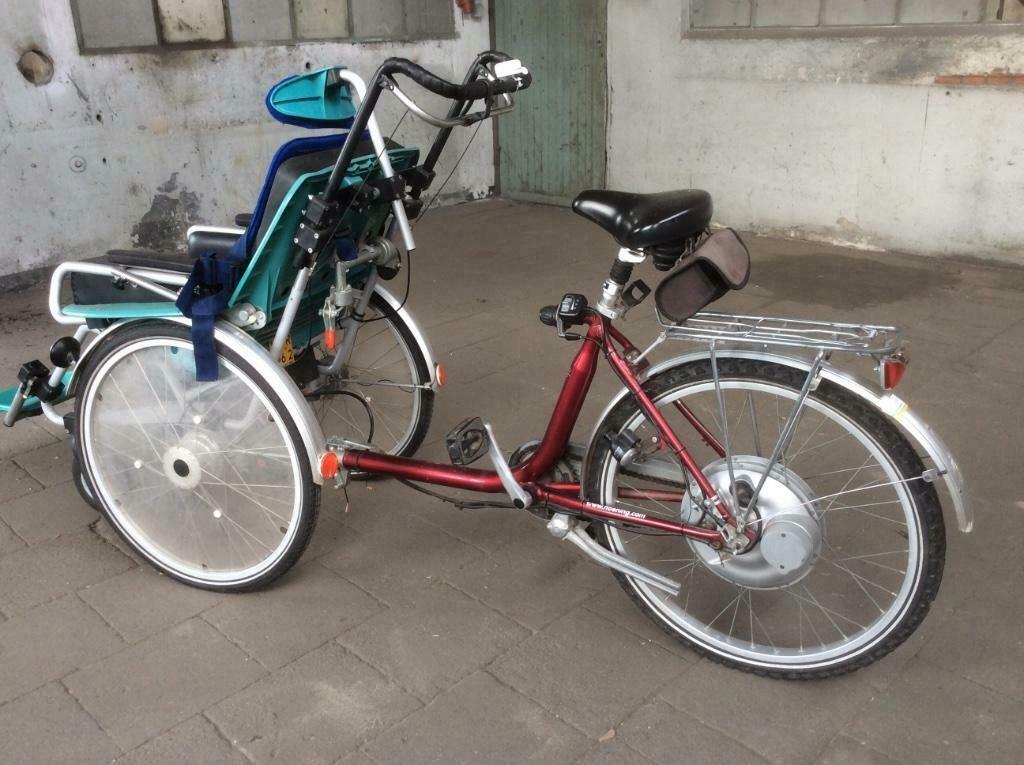 rower z wózkiem rehabilitacyjny riksza elektryczny