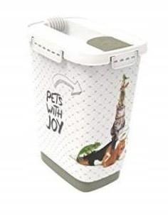 Pojemnik na karmę żwirek 10 L CODY cappuccino