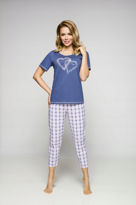 REGINA polska damska piżama niebieska L