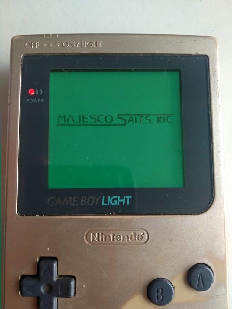 Game Boy Light złoty oryginalny i sprawny