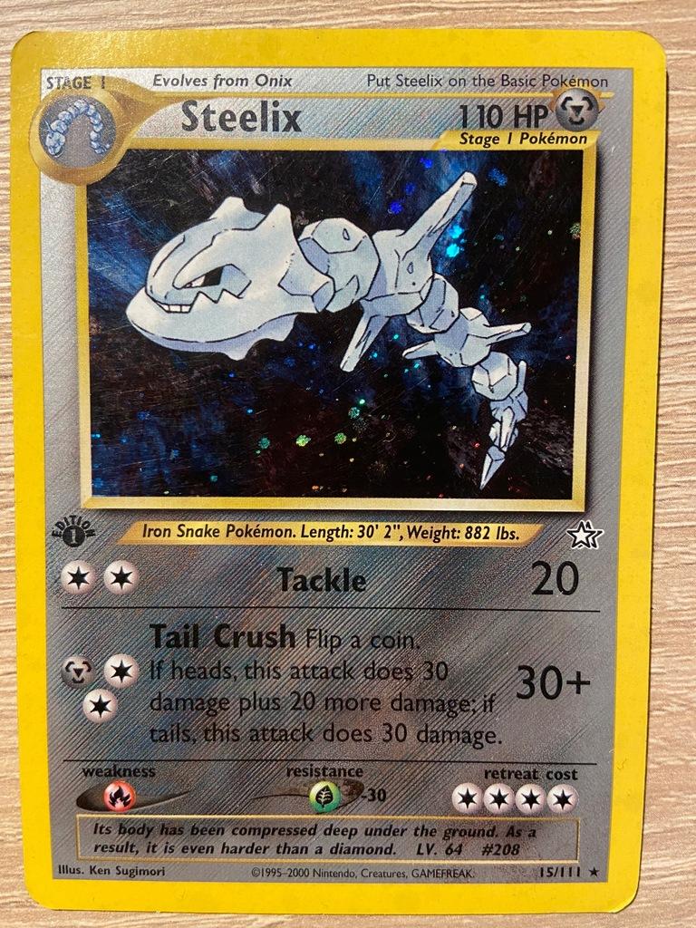 Steelix TCG Pokemon Neo Genesis HOLO