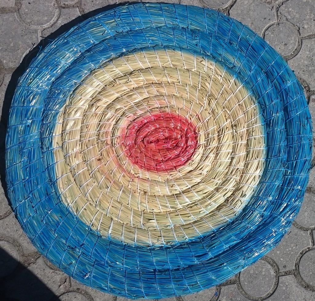 Mata łucznicza słomiana Ø 65 cm malowana