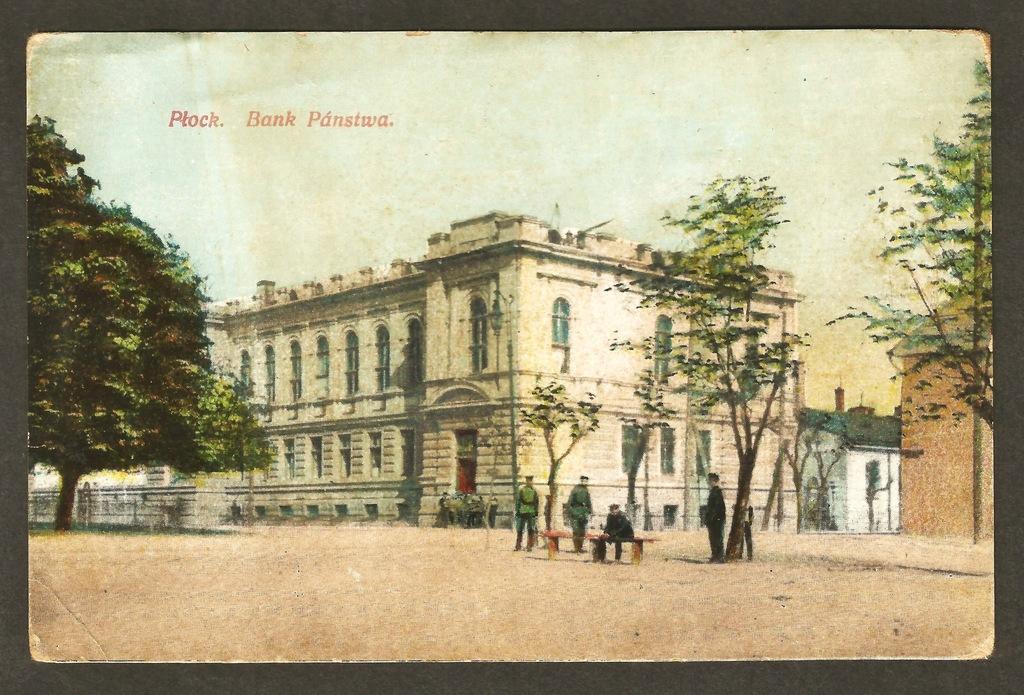 Płock. Bank Państwa ok.1910 roku