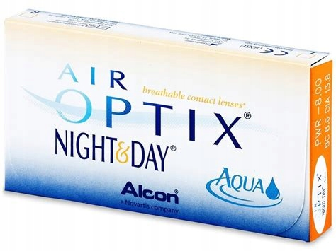 AIR OPTIX Night & Day Aqua BC 8,6 1 szt. -6,25