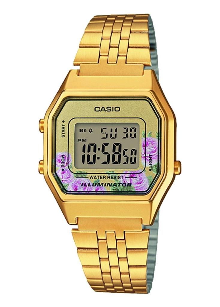 Zegarek CASIO LA680WEGA-4CEF damski kwiaty stoper
