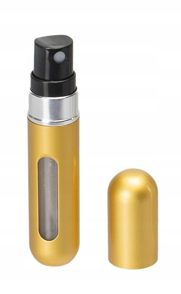 Atomizer podróżny do perfum 5ml dozownik złoty