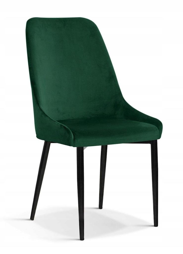 Krzesło OLIVIER M zielony/ noga czarna/ BL78