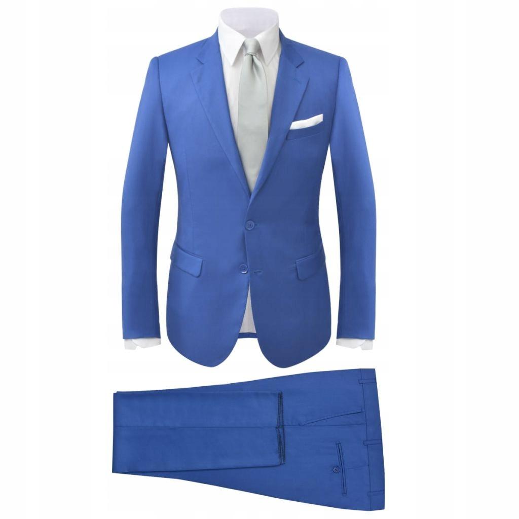Garnitur męski dwuczęściowy, błękitny, rozmiar 46