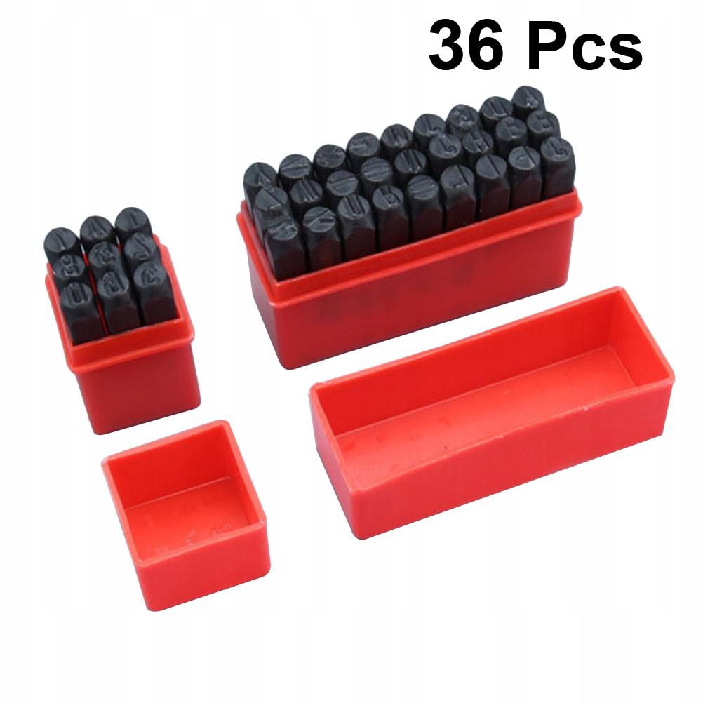 36 SZTUK 2mm Liczba liter Stalowa pieczęć Numer