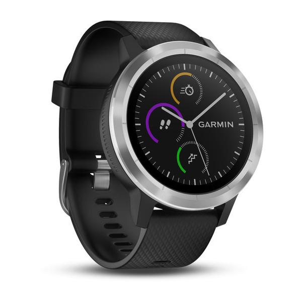 Garmin VIVOACTIVE 3 Srebrny Czarny Smartwatch GPS