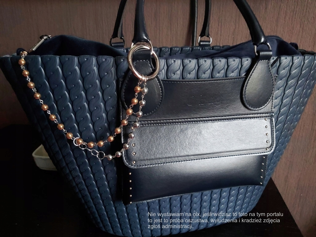 Obag knit o bag blue navy zestaw xl