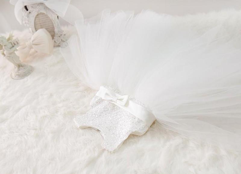PRZEPIĘKNA Wizytowa TIULOWA Biała Sukienka 128 134