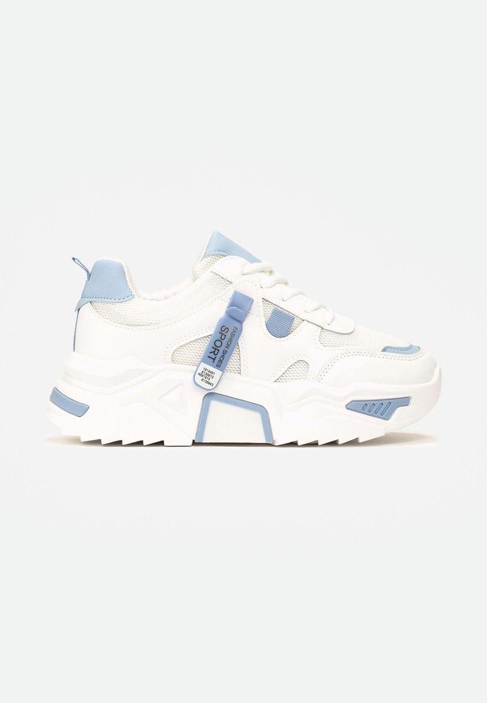 Biało-Niebieske Sneakersy 39