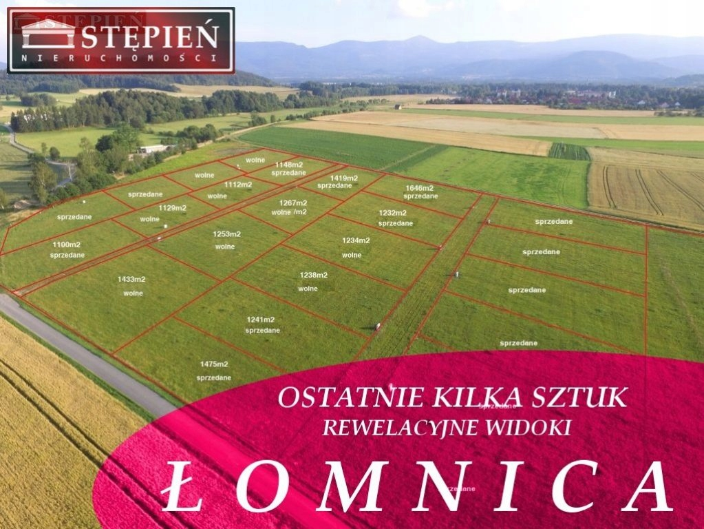 Działka, Łomnica, Mysłakowice (gm.), 1129 m²