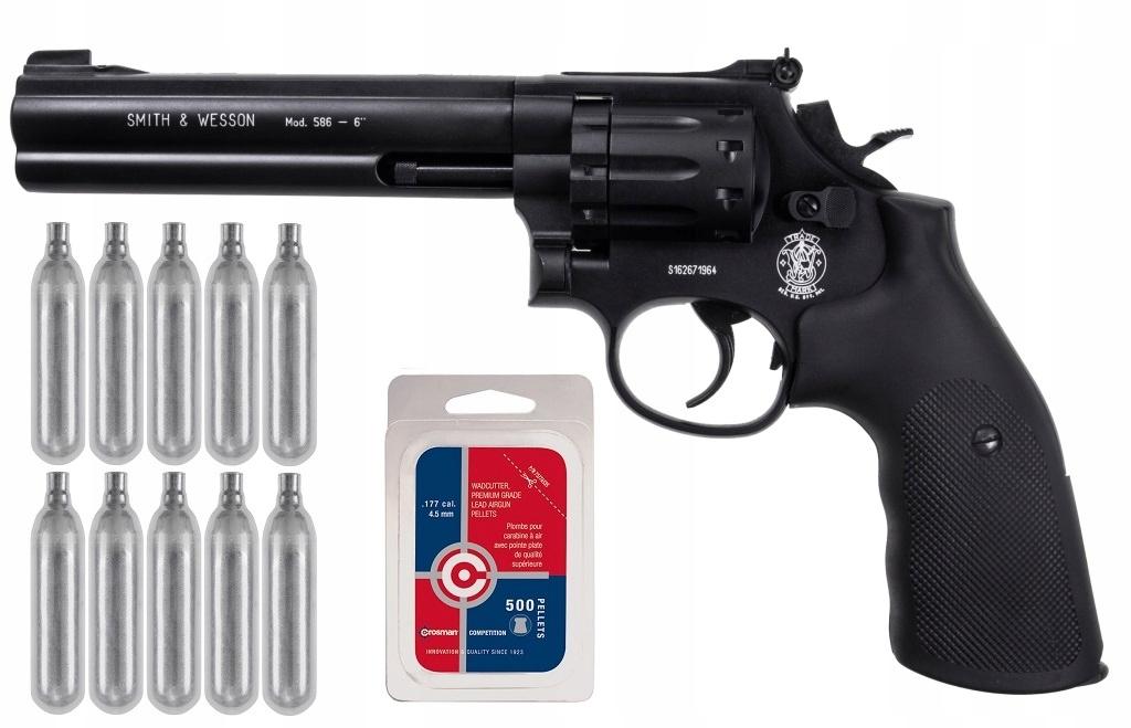 Wiatrówka Smith&Wesson Mod. 686 6 ZESTAW ŚRUT