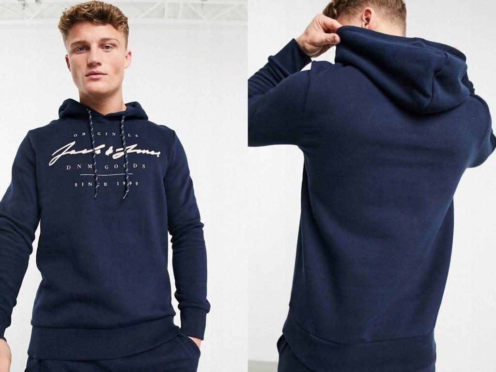 Jack & Jones Granatowa bluza z logo XL