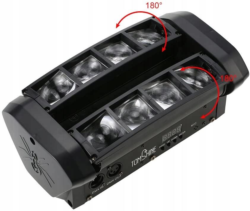 Oświetlenie sceniczne Tomshine RGBW LED Spider