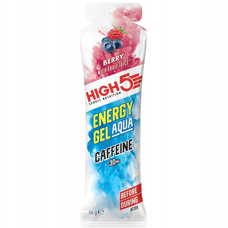 High5 Energy Gel Aqua jagodowy z kofeiną 66g