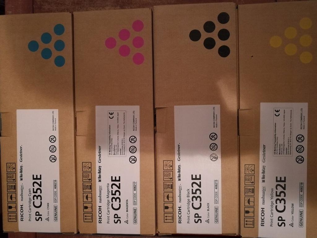 4 x Toner Ricoh C352E zestaw CMYK 408215,16 ,17,18